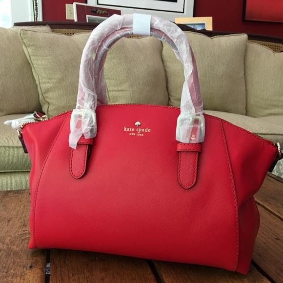 kate spade Handbags - Kate Spade Satchel Shoulder Bag Purse Red NWT